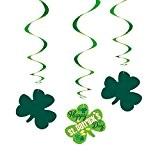 Unique Party à suspendre 65575Argyle St. Patrick de jour Décorations, Lot de 3