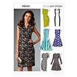 Vogue Patterns 9050 A5 Patrons de robes pour femme Multicolore Tailles 34 à 42