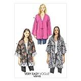 Vogue Patterns Mesdames Patron de Couture Facile 9115très ample unline Kimono pour femme + Gratuit Minerva Crafts Craft Guide