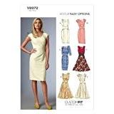 Vogue Patterns V8972 Patron de robe pour femme Multicolore TailleA5 34 à 42