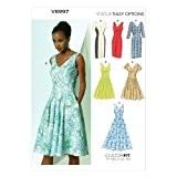 Vogue Patterns V8997 Patrons de robes pour femme Multicolore Tailles 34 à 42