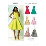 Vogue Patterns V8998 Patrons de robes pour femme Multicolore Tailles 34 à 42