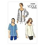Vogue Patterns V9086B5 8/10/12/14/16 Patron de couture Haut pour femme
