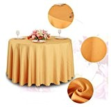 WSHWJ Hôtel restaurant nappe ronde nappe nappe polyester , yellow , 1.8m table cloth