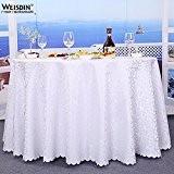 WSHWJ Hôtel tour couleur unie Jacquard table cloth restaurant nappes nappes , 2.0m table cloth