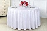 WSHWJ Restaurant nappe polyester couleur unie ronde nappes nappe de banquet de mariage , white , 1.8m table cloth