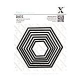 Xcut Jeu de 7 pièces Acier carbonisé Motif hexagones Nidification Dies