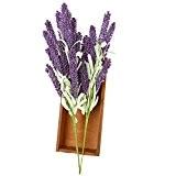 12pcs 51cm Fleurs Artificielles de Lavande Provence Plantes pour la Décoration de Jardin / Maison la Fête de Noël Anniversaire ...
