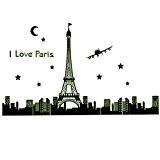 165* * * * * * * * 92cm I Love Paris Tour Eiffel nuit PVC Sticker mural amovible Motif ...