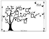 180 * 250cm 3D DIY photo d'arbre adhésifs Stickers muraux, Stickers muraux PVC Art