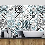 25 carrelage 20x20 cm - PS00054 PVC autocollants carreaux pour salle de bains et cuisine Stickers design - Oslo
