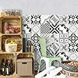 25 carrelage 20x20 cm - PS00082 PVC autocollants carreaux pour salle de bains et cuisine Stickers design - Otranto