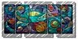 29x 30, Le Cubisme abstrait art mural en métal, Home Decor moderne, contemporain sculpture murale