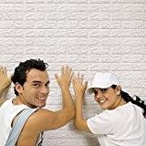 3D Brique Papier Peint, Auto Adhésif Amovible, Style Simple, la Sécurité et la Protection de L'environnement Autocollants Muraux Pour la ...