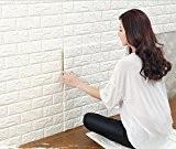 3D brique pour les murs de télévision / décor de mur de fond de canapé, autocollant mural imperméable autocollants décor ...