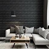 3D Motif de Briques Tile Mur Stickers muraux, DIY Auto-Adhésif Autocollants Imperméable Papier Peint Décoration pour la Maison Bureau Grande ...