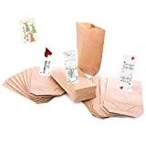 50 Petits papiers sac à dos - 14 x 22 cm, en papier kraft pour sacs cadeau de l'avent, emballage ...