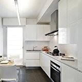 60 x 500 cm Stickers cuisine meuble Armoires étanche Papier peint Autocollant de Cuisine Blanc Film en PVC