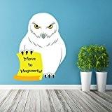 (77x 100cm) autocollant mural en vinyle Motif chouette avec lettre/Harry Potter Chouette Sticker/Harry Potter fantaisie Chouette/Hibou Coloré Poudlard Papier peint ...