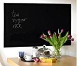 A-SZCXTOP 200 x 45 cm Tableau Noir Tableau Noir Sticker mural Alternative au Traditionnel Tableau Craie Livré avec 5 Craies ...