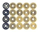 AlphaAcc 50pcs FENGSHUI Fortune pièces chinoises porte-bonheur DDS Feng Shui pièce de monnaie blocs pour chasse au trésor d'une Cachette ...