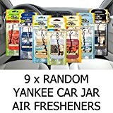 AMAZING VALUE PACK 9 x Assorted Yankee Candle Car Jar Air Hanging Air Fresheners by Yankee Candle