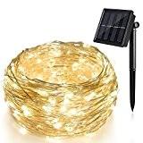 Ankway 200 LED Etoilée Jeu de lumières à énergie solaire pour l'extérieur, jardins, maisons, danser, Fête de Noël (72pieds, Blanc ...