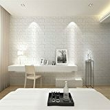 Autocollant Papier Carrelage Blanc Sticker Mural en Brique 3D Fond D'écran 60 * 60cm - # 3