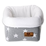 Baby's Only Corbeille de rangement Star gris et blanc - Gris