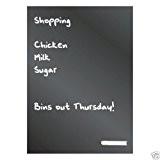 BHMA Limited EaziWipe® Tableau noir pour réfrigérateur avec un bâton de craie offert Format A4 Fixation Magnétique Tableau mémo idéal ...
