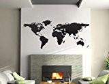 """Bilderdepot24 tatouage mural sticker mural """"mappemonde 144x59cm"""" - produit de qualité superieure, vente directe par le fabricant allemand"""