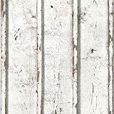 Bois rustique planches papier peint blanc - CRÉATION 9537-01