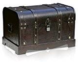 Boîte de rangement Coffre au Trésor par Thunderdog – Structure Résistante en Bois et en Métal - Design Vintage Unique, ...