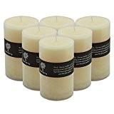 Bougie Grosse parfumée à la vanille avec mèche unique. Durée d'éclairage de 110 heures x6