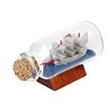 Bouteille à la Mer Miniature en Verre Décoration pour Micro Paysage Bonsaï