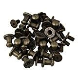 bqlzr Bronze Alliage de Zinc Bouton à vis clous rivet pour ceinture Leathercraft Vêtements en cuir sacs à main Lot ...