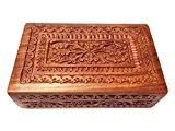 Cadeaux spéciaux sur la fête des mères Vintage Boîte en bois de Carving, boîte de rangement (8X5 inch), Jewelry Box,
