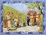 Carrelage Mural – Fresque Murale Peinte sur Faience émaillée - 60x45cm (12 carreaux de 15x15cm)