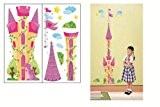 château de princesse ENFANTS STICKERS MURAUX HAUTEUR MESURE FICHE DE CROISSANCE AUTOCOLLANTS FILLES CHAMBRE DE MUR CHAMBRE DECOR Décoration Sticker ...