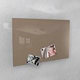 Colours-Manufaktur Tableau mural magnétique gris-beige (RAL 1019) brillant - 3 formats: 40x60 cm/50x80 cm/60x90 cm, grau-beige - RAL 1019 glänzend, ...