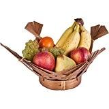 Corbeille à fruits en bambou marron