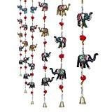 Craftvatika Lot de 2décoratifs éléphant Porte tentures | papier fait main Frenzy Sculpture | Décoration de maison