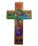 Croix en bois. Croix religieuse en bois.Crucifix en bois. Croix per enfant.Commerce equitable fabrique au Salvador