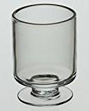 Cylindre en verre sur pied Motif Bougeoir inférieur Vase pour bouquet 16 cm