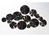 Décoration murale métal cercles noirs