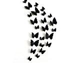 Décorations d'Halloween Noël Mur 3De post/3D/stéréo/simulation/frigo/salon/chambre à coucher/3Décoration/beauté/noir/pins/aimants / / papillon stickers muraux , magnet black