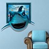 Décorations d'Halloween Noël Sticker stéréo 3D (requin) papier peint papier autocollant 3De la chambre à coucher salon TV canapé réglage ...