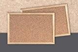 Decosa Tableau liège, encadrement bois, 900 x 600 x 15 mm