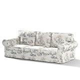 Dekoria Fire Retardant IKEA EKTORP Housse Canapé 3places lit (pour modèle en vente en IKEA depuis 2013personnages)–Bleu