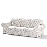 Dekoria Fire Retardant IKEA EKTORP Housse Canapé 3places lit (pour modèle en vente en IKEA depuis 2013)–Violet et Rose Fleurs ...